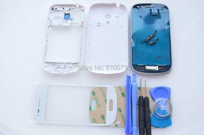 S3 mini white ABC glass