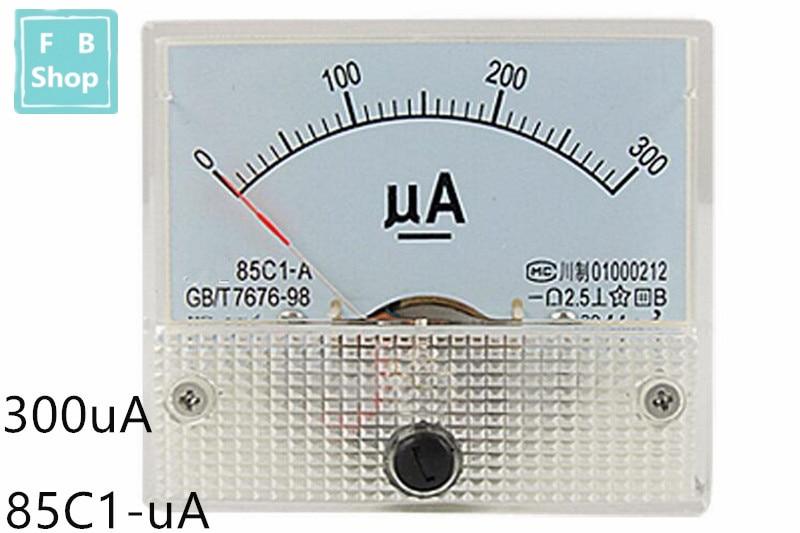 1PCS 85C1 50uA 100uA 200uA 300uA 500uA DC Analog Pointer Current Meter Panel AMP Gauge Current Mechanical Ammeters