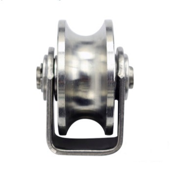 2PCS/LOT  Wheel D:48mm  (2inch)304 Stainless Steel U Groove Track Pulley Wheel Bearing Rail Caster Lifting m75 750kgs pulley 304 stainless steel roller crown block lifting pulley factory direct sales all kinds of driving pulley