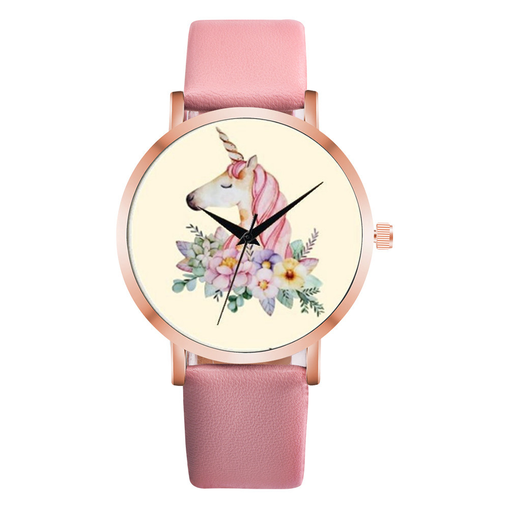 Ladies Watch 2018 Fashion Relogio Feminino Luxo Marca Business Unicorn Clock Wristwatch Casual Watches Kadin Saatleri Hot Sale