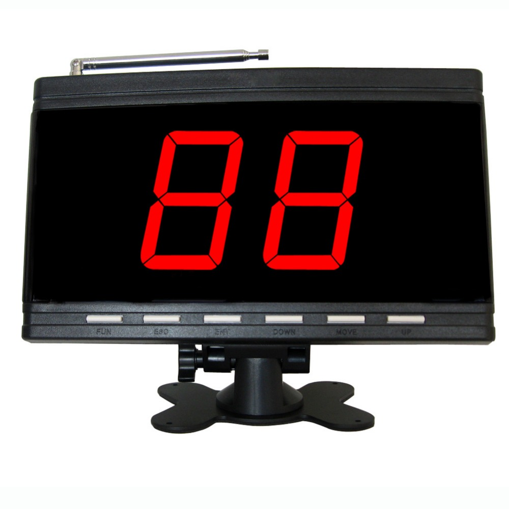 Wireless calling system,paging system, black, for restaurant,coffee shop,office,factory цена