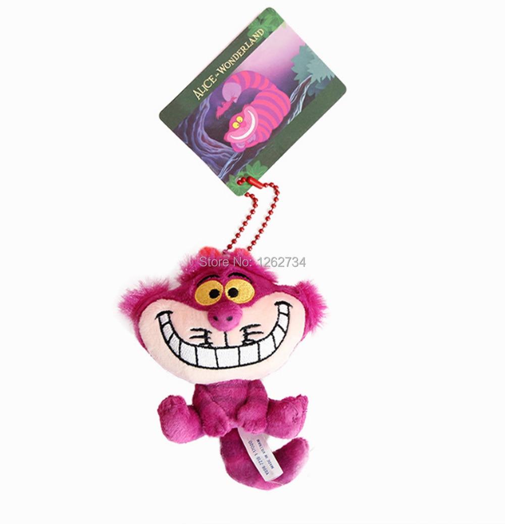 Free Shipping EMS 100 Lot 10CM Cheshire Cat Plush Keychain Doll Soft Gifts Plush Figure 1