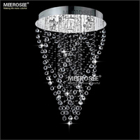 Free Shipping 2013 Modern Crystal Ceiling Lamp Fixture With 6 GU10 Bulbs MD8443 L6 D600mm H1000mm