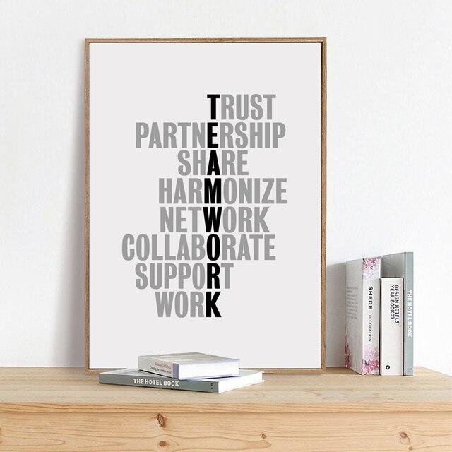Teamarbeit Motivation Zitate Leinwand Kunstdruck Buro Poster
