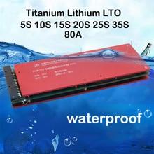 Placa de protección de batería de titanato de litio LTO, circuito de 2,4 V 80A, PCM, 12V 72V 60V, 35S, 30S, 25S, 20S, 15S, 10S, 5S