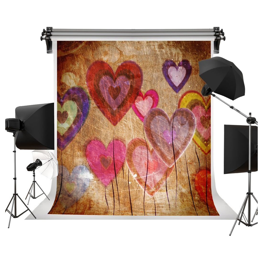 Top Deals Valentine's Day Backgrounds Abstract love heart for Lovers Valentine's Day Photo Photography Studio Props Background image