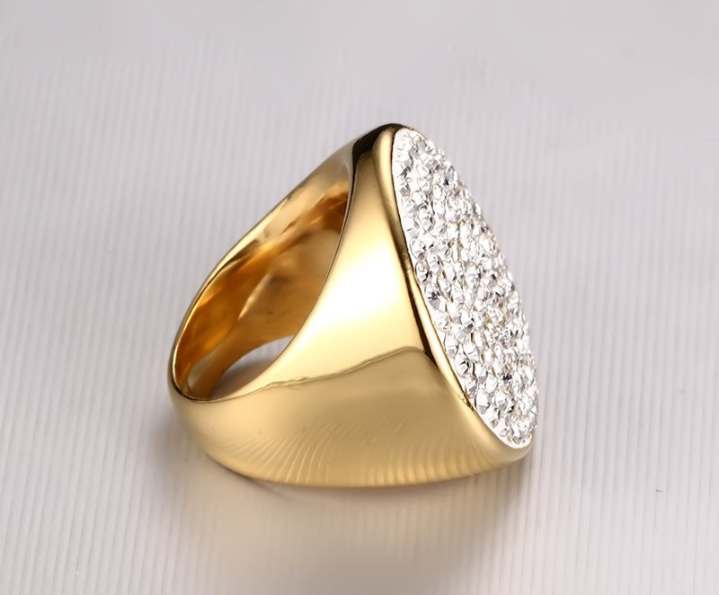 Gold Luxury Crystal Men's Ring