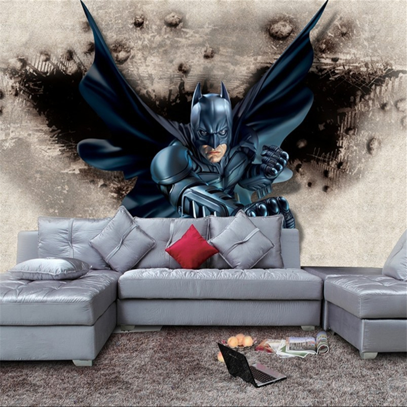 Online get cheap batman wall murals - Stickers papier peint mural ...