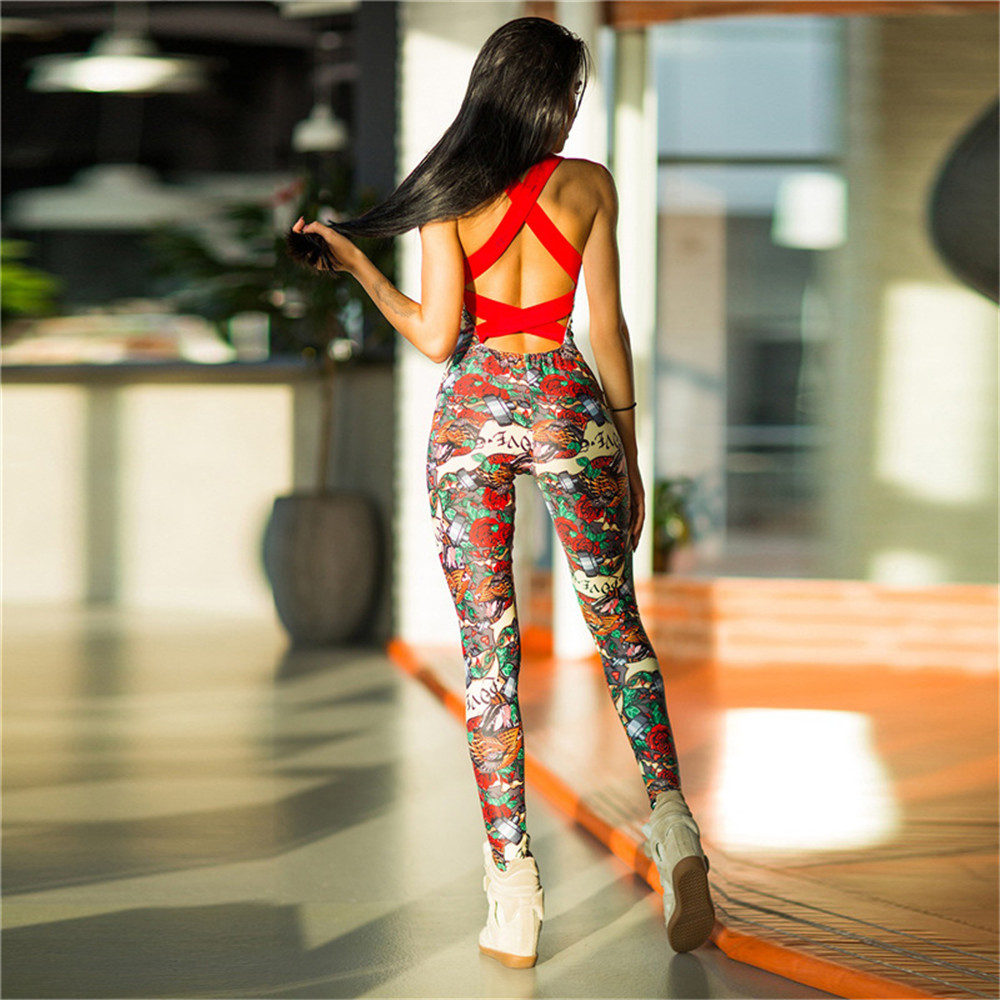 One-Piece-Sexy-Gym-Clothing-Suit-Floral-Print-Backless-Padded-Yoga-Set-Fitness-Running-Tight (3)