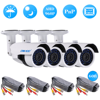 OWSOO AHD IR CCTV Camera Surveillance Cable IR CUT Night Vision Array Infrared Lamps 1/2.8 Color CMOS Home Security PAL System