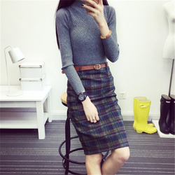2017 new fashion autumn winter women pencil font b skirt b font women elegant casual knee.jpg 250x250