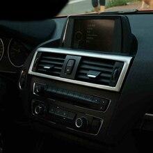 Chrome aria condizionata vent telaio di copertura trim interni paillettes aria pannello presa striscia decorativa 3D sticker per BMW serie 1 F20