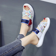 d100c268f946a8 Vogue Nice New Design Pop Sale Red Heart Women Slippers Thick Sole  Comfortable Summer Beach Sandals Fashion Student Shoes