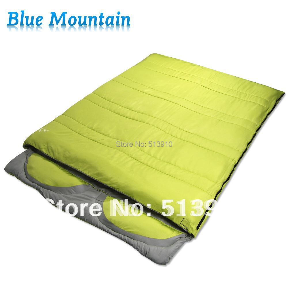 Blue Outdoor One Piece Double Sleeping Bag Envelope Style Autumn And Winter With Pillow In Bags From Sports Entertainment On