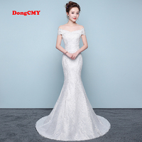 DongCMY LD0813 New Arrival long white color Mermaid bandage Wedding dress Bridal Gown