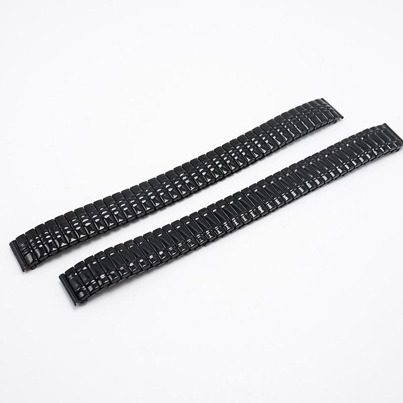 Watchband 14mm Black Flexible Metal strap 14MM 2016 watch bands 14 watch women watchbands, watch strap for watches relogio FZ026