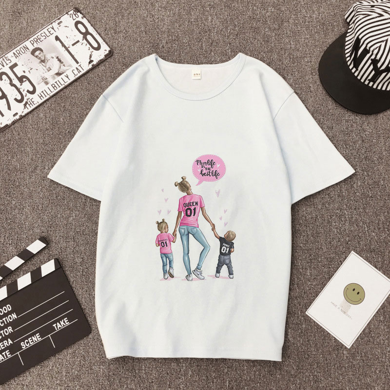 1fdd2ef4afc5 Kawaii Tshirt Women's Super Mom Funny Printing Harajuku Casual Tees 90s  Summer 2019 Tshirt Happiness Short ...