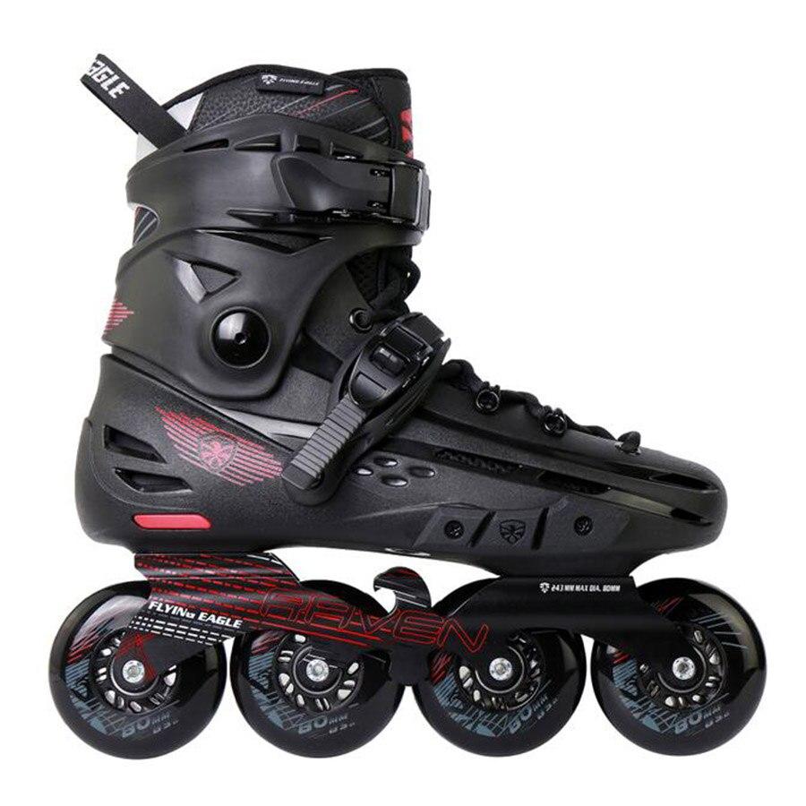 100% Original aigle volant F4-RAVEN patins à roues alignées Falcon professionnel adulte chaussure de patinage à roulettes Slalom coulissant patinage gratuit