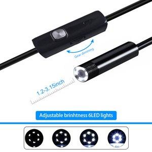 Image 4 - 3 in 1 7mm Android Endoskop Kamera IP67 Wasserdichte Inspektion Endoskop Kamera mit 6 led leuchten für Android Samsung PC Typ C