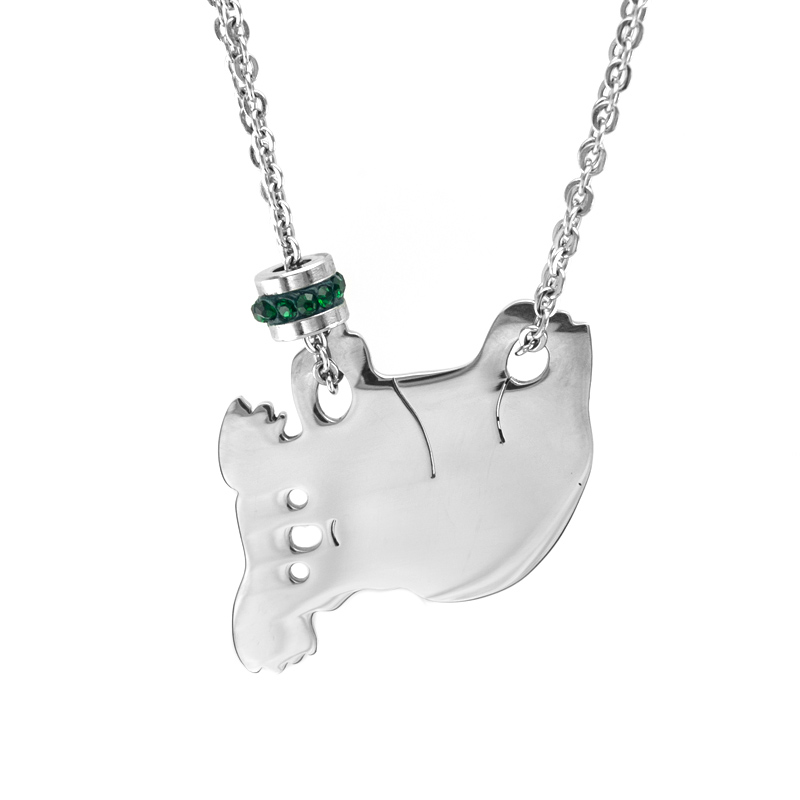 Jewellery & Watches Forceful Koala Birth Stone Women Choker Necklace Stainless Steel Lucky Stone Charms Jewelry Rolo Chains Kolye Female Gift Necklaces
