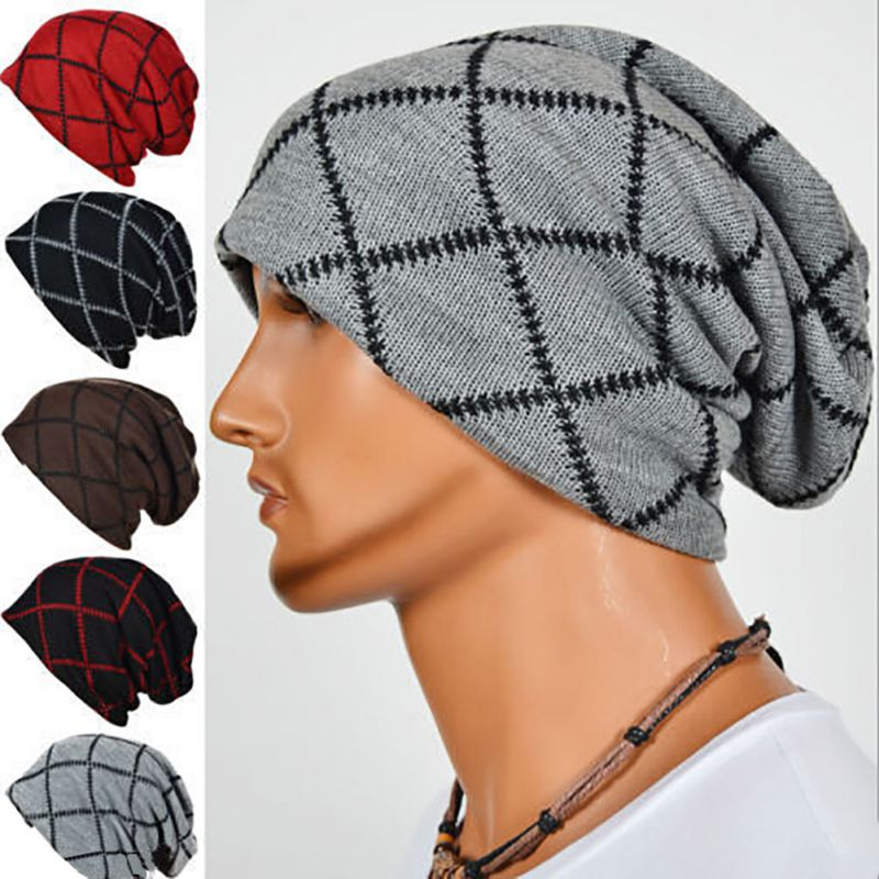 Unisex Acrylic Knit Hat Winter Hats Skull Style Skullies & Beanies For Woman And Man 5 Colors 2 Styles Gorros skullies