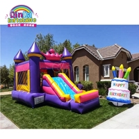 Commercial Inflatable Bouncer Jumping Bounce House Inflatable Trampoline with Slide for Party