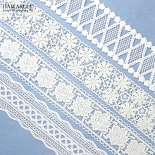 10yard african white lace fabric Milk silk embroidery water-soluble 2019 high quality wedding decoration trim ribbon