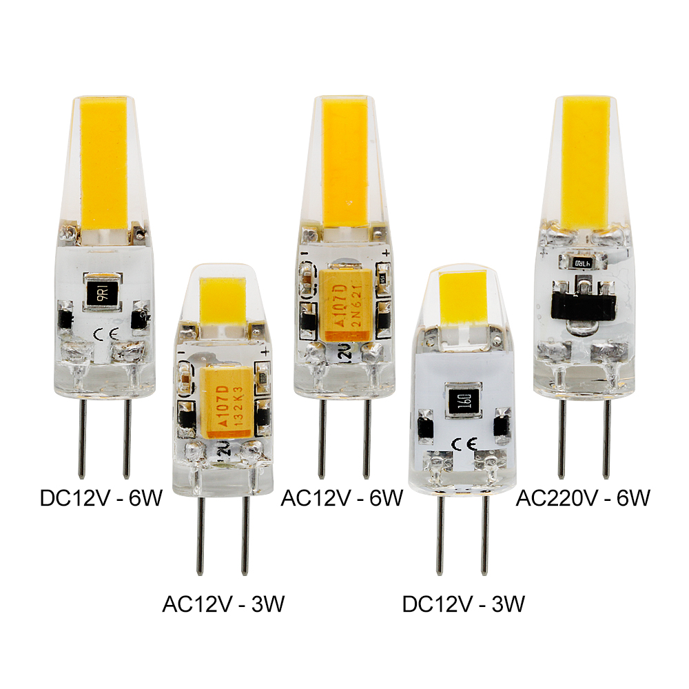 Dimmable G4 Bulb AC DC 12V 220V 230V 3W 6W COB SMD LED Lights Replace Halogen Spotlight Chandelier Lighting Lamp
