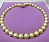 1812 13mm south sea gold pearl necklace