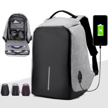 Laptop Backpack USB Charging Anti Theft Backpack Men Travel Backpack Waterproof School Bag Male Mochila gray men s backpack with usb interface black laptop backpack zipper classic male blue travel school bag anti theft backpacks