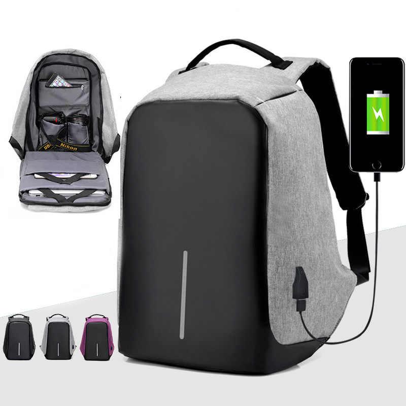 Рюкзак для ноутбука с usb-зарядкой, Противоугонный рюкзак для мужчин, рюкзак для путешествий, Водонепроницаемый Школьный рюкзак для мужчин, Mochila