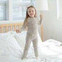Pajamas For Kids Boys Girls Full Sleeves Long Pants Cotton Print Pajama Sets 2pcs Spring Children