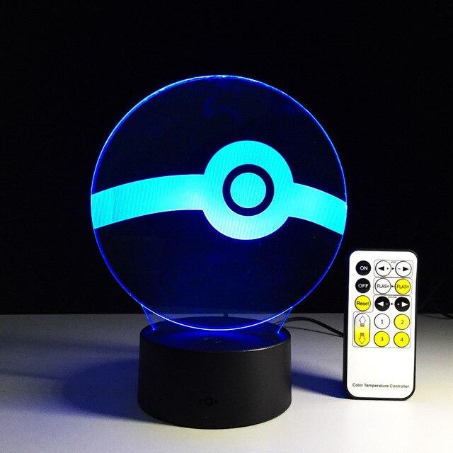 Led Usb 3d Night Light Lampe De Chevet De Chambre 3d Light Fixtures