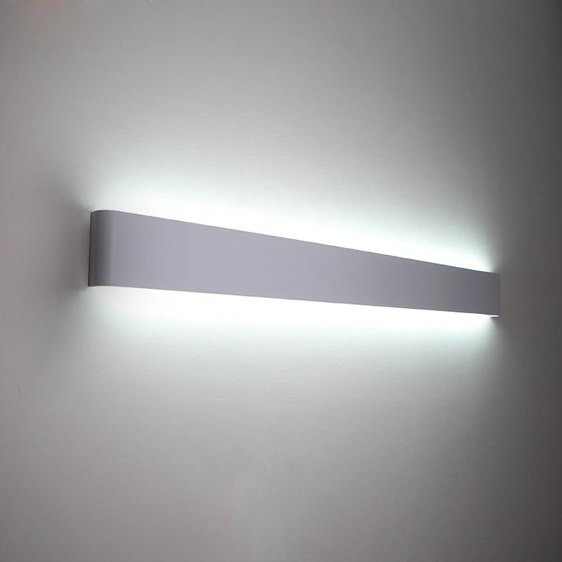 Sodobne minimalistične stenske svetilke LED aluminijaste spalne - Notranja razsvetljava - Fotografija 2