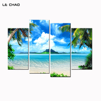 Wall Art Canvas Beach Sun Decorative Wall Pictures Modular Painting For Living Room Posters And Prints