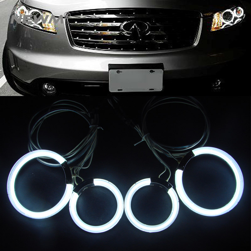 7 colors ccfl angel eyes ring 94mm&72mm halo ring headlights for Infiniti FX35 car angel eyes light ring ccfl free shipping for 01 05 lexus is300 ccfl halo projector headlights 02 03 04 usa domestic free shipping