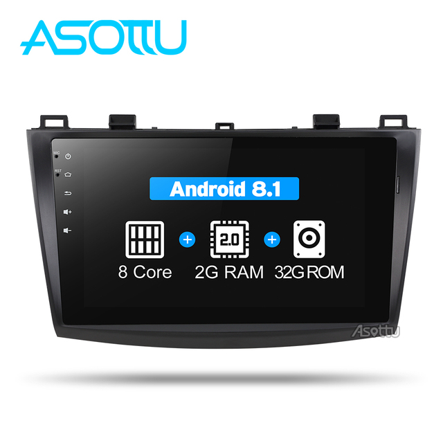 Asottu MMZD9081 android 8,1 coche dvd para MAZDA 3 9 pulgadas pantalla táctil octa-core gps navegación coche gps reproductor Multimedia ESTÉREO