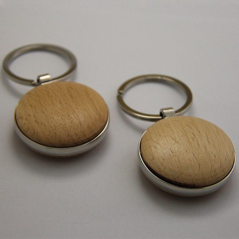 도매 50 pcs 빈 나무 키 체인 diy 프로 모션 사용자 지정 키 태그 프로 모션 고품질 선물 무료 배송-에서열쇠고리부터 쥬얼리 및 액세서리 의  그룹 1