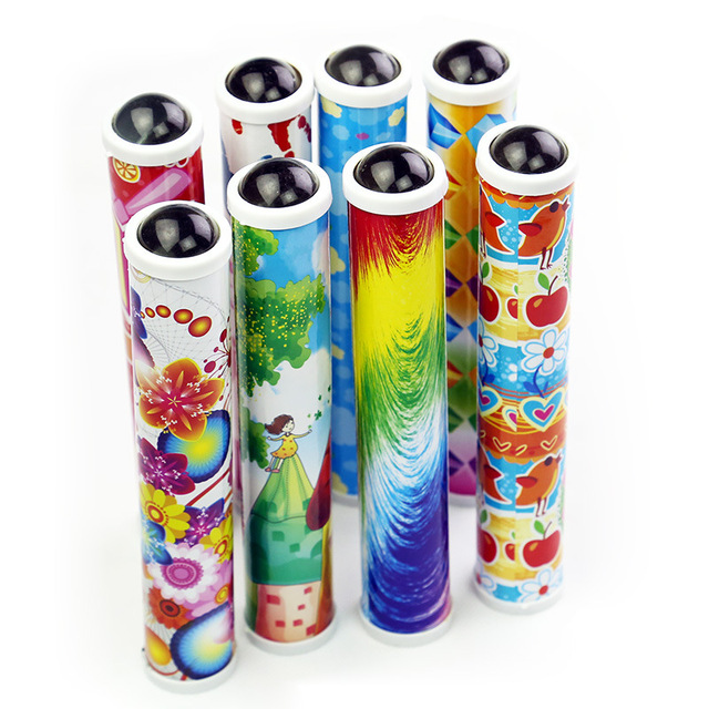 19cm Kaleidoscopes Kids Toys Scalable Extended Rotation Adjustable Kaleidoscope Fancy Color World Educational Toys For Children