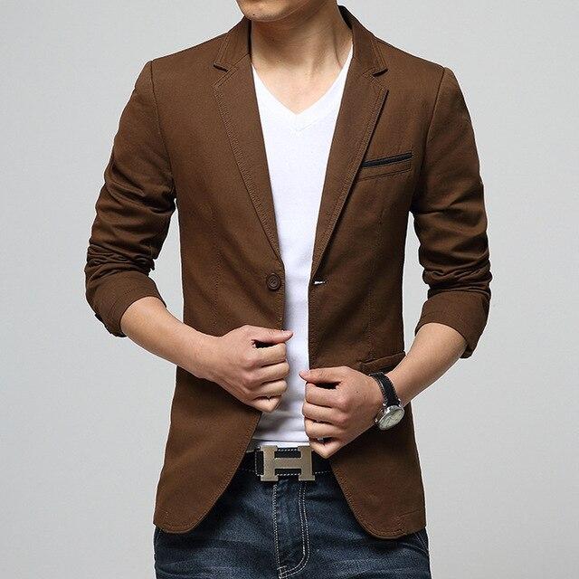Aliexpress.com  Buy Menu0026#39;s Brand Blazer Jacket Plus Size 2017 Autumn New Fashion High Grade Long ...