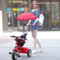 DFBB children tricycle 5 colour inflatable wheel 1-3-5 infant baby push bicycle