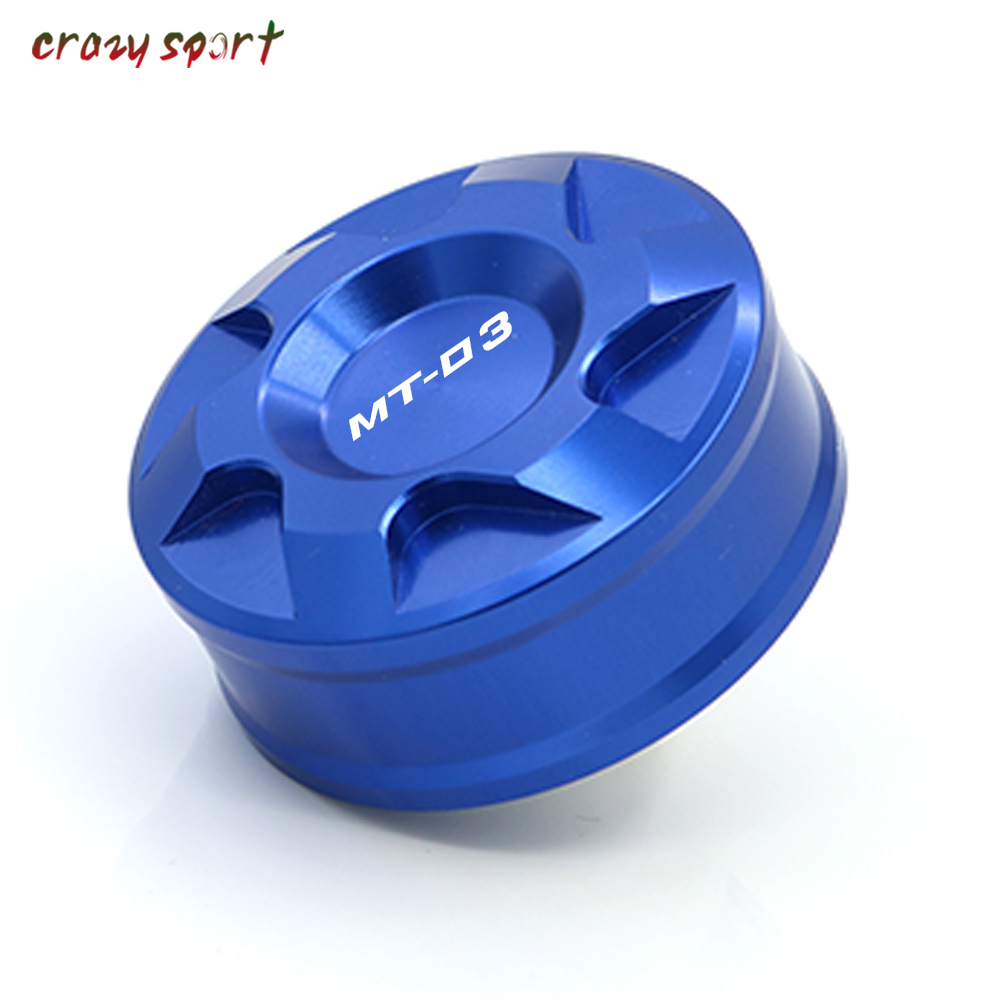 Rear Brake Fluid Reservoir Cover Cap For YAMAHA <font><b>MT</b></font>-<font><b>03</b></font> 660 2015-2019 MT03 <font><b>MT</b></font> <font><b>03</b></font> <font><b>2018</b></font> 2017 Motorcycle Accessories With Logo image