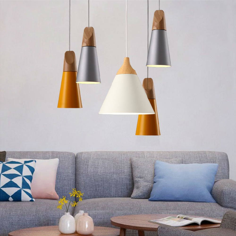 1 pcs Modern Aluminum+Wood Chandelier living Room lustres cristal Decoration Pendants and Chandeliers Home Lighting Indoor Lamp modern water plant chandelier creative wood glass lustres living room cafe clothing store decorative chandeliers lamparas de tec