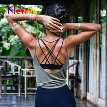 Fitness Women Breathable Yoga Top Gym Workout Tank Sexy Backless Sport T Shirt Running Crop