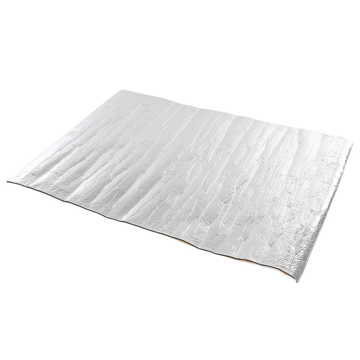 6mm 100cm x 140cm Car Sound Proofing Deadening Insulation Mat Aluminum Foil Cotton Heat Waterproof Resistant