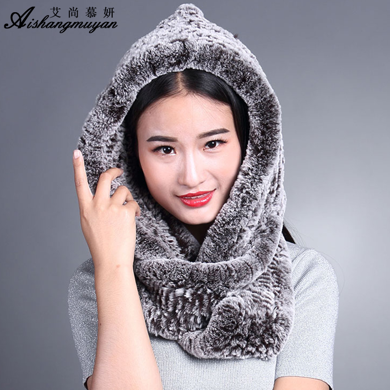 rabbit fur hats and scarves for 2017 new winter fur