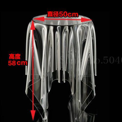 Прозрачный журнальный Столик Круглый акриловый привиденный стол плавающая Волшебная скатерть креативная сторона для обсуждения журнального стола для отдыха - Цвет: 50cm