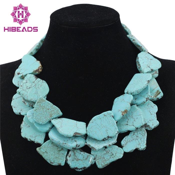 Vintage pierre collier déclaration collier Colar bijoux bleu Chunky bavoir mariage fête collier livraison gratuite TN156