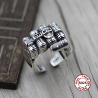 S925 Sterling Silver Men's Ring Personality style classic retro simple Domineering fist open shape Send a gift to love hand