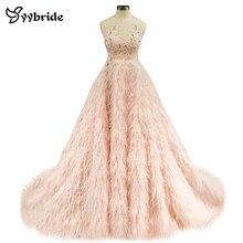 Женское вечернее платье без рукавов, элегантное платье до пола с круглым вырезом и перьями для вечерние, осень 2019